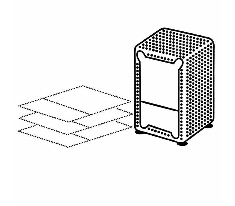Dispenser Servetten - Navulling servethouder 500 stuks - Wit