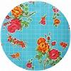 MixMamas Rond tafelzeil 120cm rosedal lichtblauw