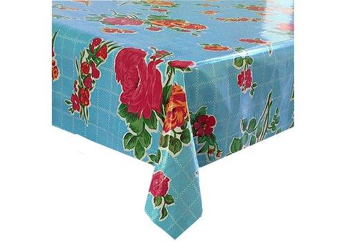MixMamas Tafelzeil Rozendal Vierkant - 120 x 120 cm - Blauw