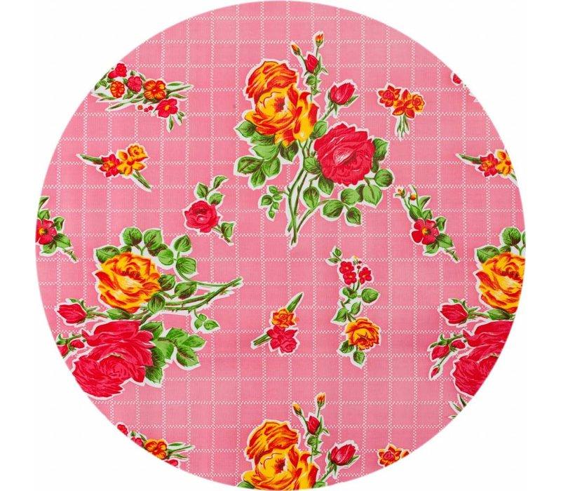Rond tafelzeil 120cm rosedal rose SALE