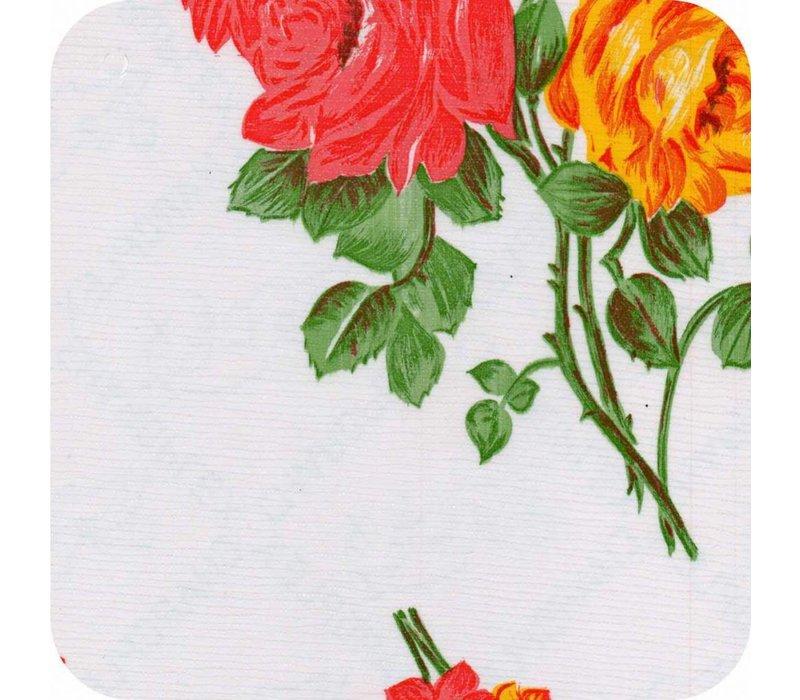 Tafelzeil Rozendal Vierkant - 120 x 120 cm - Wit