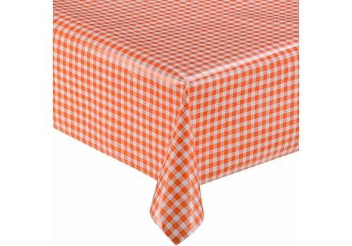 MixMamas Tafelzeil Ruitje Vierkant - 120 x 120 cm - Oranje