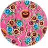 MixMamas Rond tafelzeil 120cm floral fuchsia
