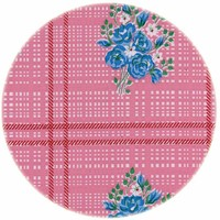 Rond tafelzeil 120cm boeketje roze