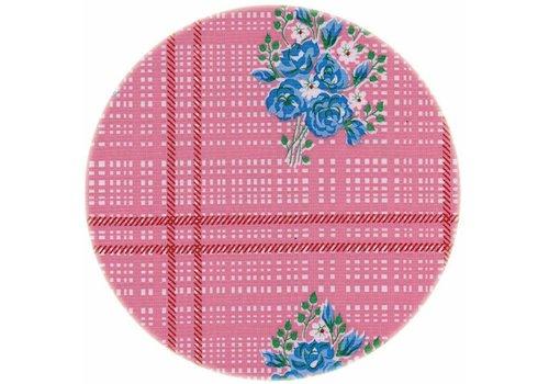 MixMamas Rond tafelzeil 120cm Boeketje roze