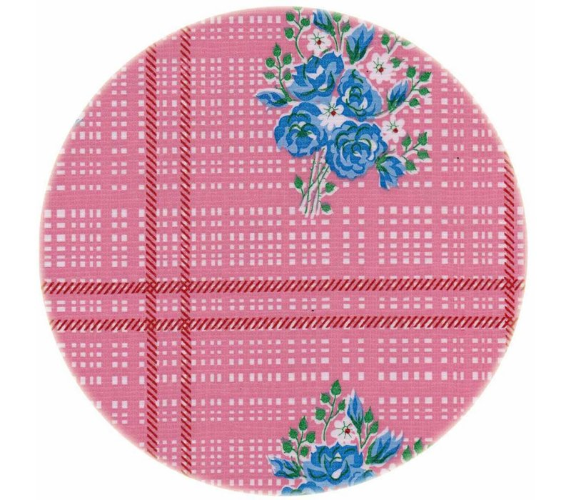 Rond tafelzeil 120cm boeketje rose