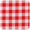 MixMamas Tafelzeil Grote Ruit Vierkant - 120 x 120 cm - Rood