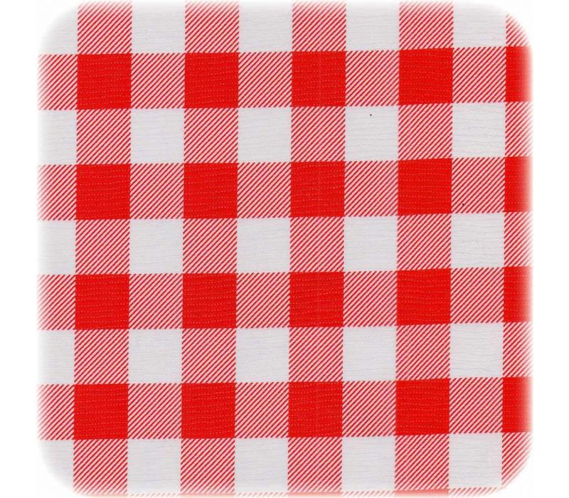 Tafelzeil Grote Ruit Vierkant - 120 x 120 cm - Rood