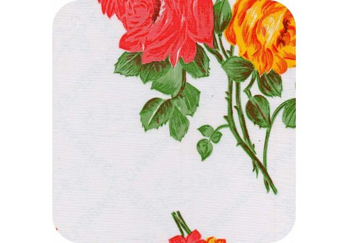 MixMamas Tafelzeil Rozendal - 120 x 200 cm - Wit