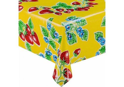 MixMamas Tafelzeil Aardbei - 120 x 200 cm - Geel