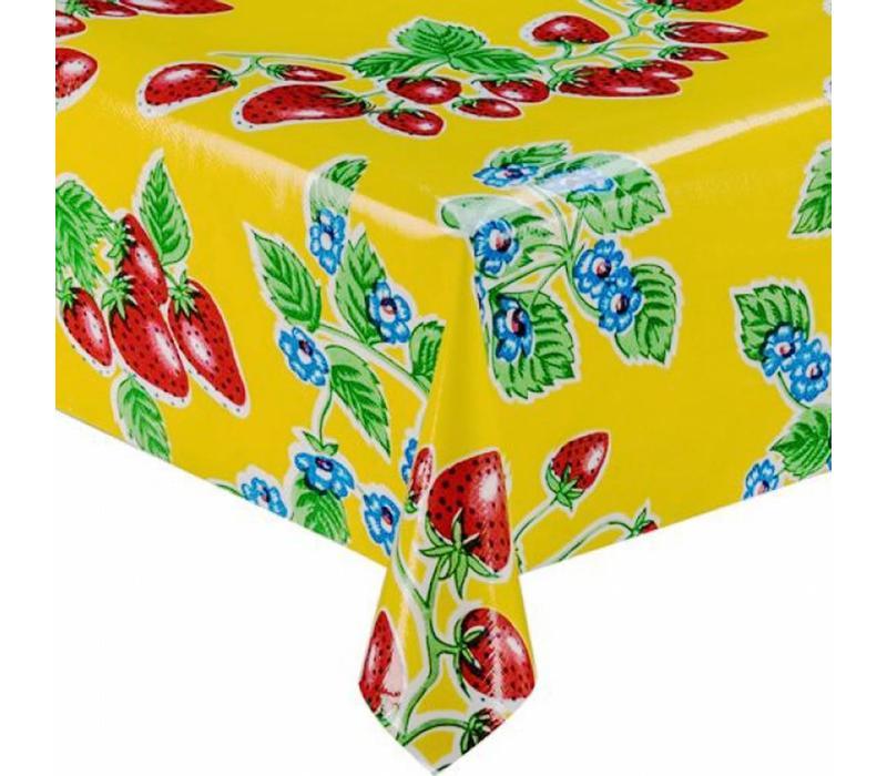 Mexicaans tafelzeil 2m bij 1.20m, Aardbei geel