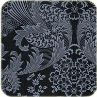 Mexicaans Tafelzeil Paraïso / Barok - 120 x 300 cm - Zwart/Grijs