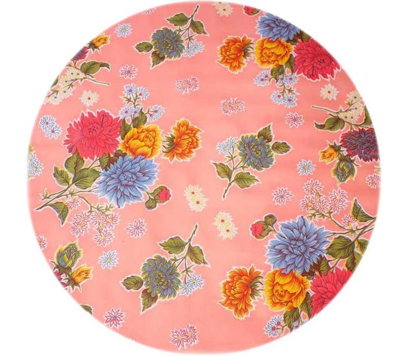 Tafelzeil Rond - Ø 120 cm - Chrysant - Roze