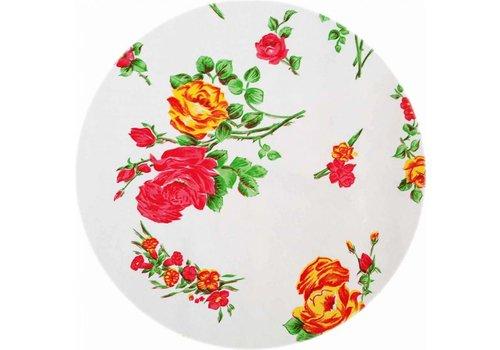 MixMamas Rond tafelzeil 120cm Rosedal wit