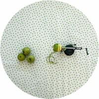 Tafelzeil Rond - Ø 120 cm - Stippen - Wit/Lichtgroen
