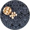 MixMamas Rond tafelzeil 120cm paraiso zwartgrijs