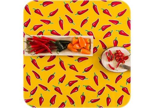 MixMamas Tafelzeil 2m chili pepers geel met rood