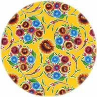 Tafelzeil Rond - Ø 120 cm - Bloom / Floral - Geel