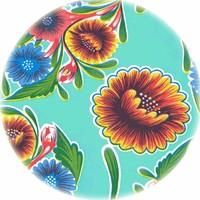 Tafelzeil Rond - Ø 120 cm - Bloom / Floral - Mintgroen
