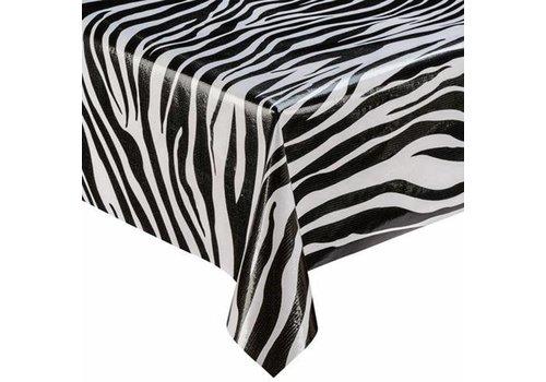 MixMamas Tafelzeil Zebra - 120 x 300 cm - Zwart/Wit