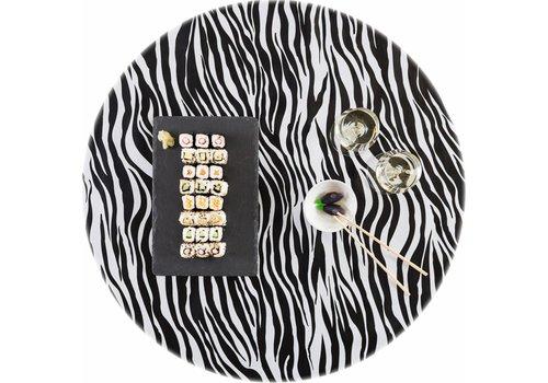 MixMamas Rond tafelzeil 120cm Zebra zwartwit