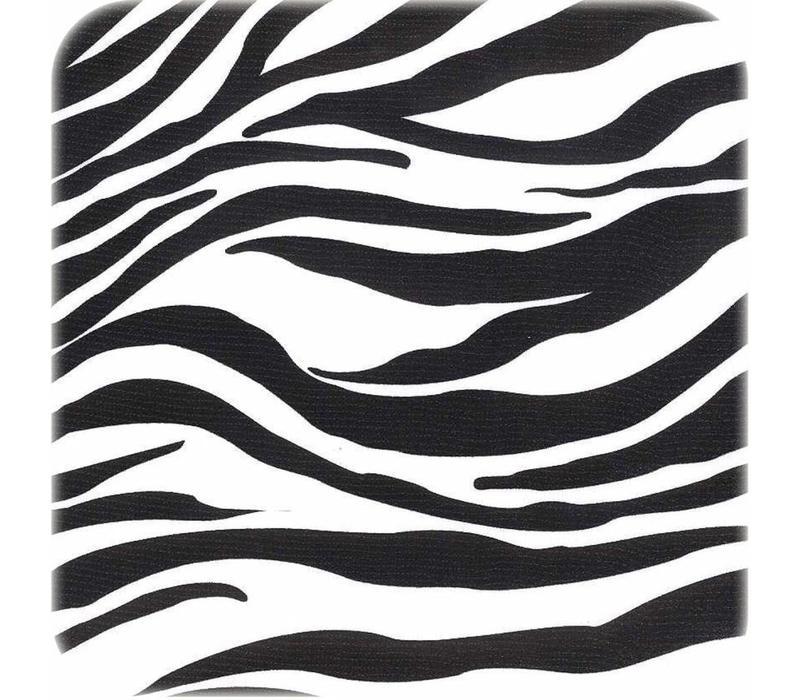 Mexicaans Tafelzeil Rond - Ø 120 cm - Zebra - Zwart