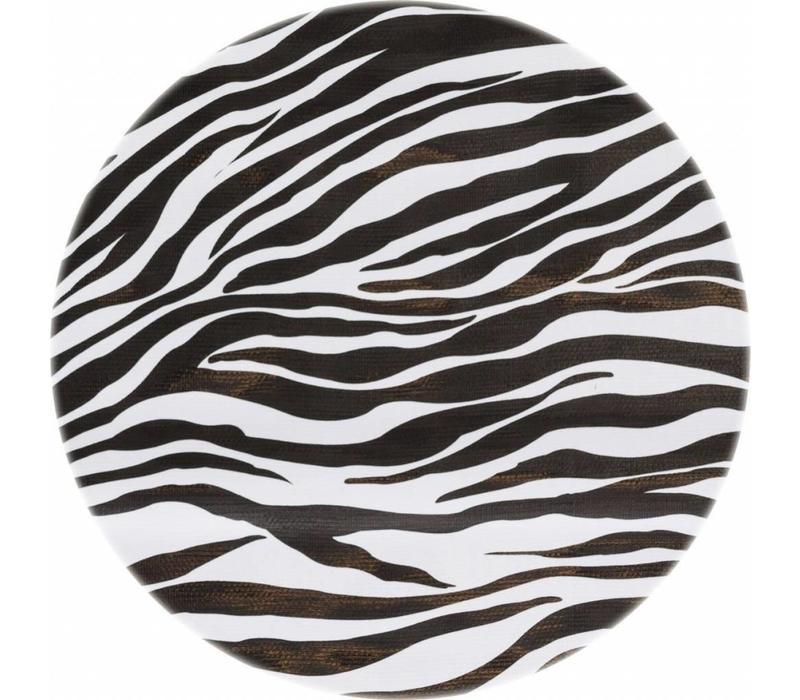 Rond tafelzeil 120cm Zebra zwartwit