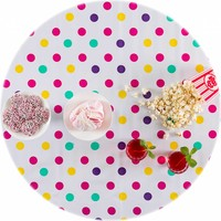 Rond tafelzeil 120cm confetti rose