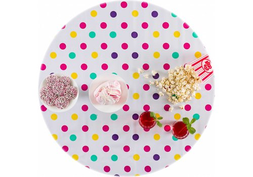 MixMamas Rond tafelzeil 120cm Confetti rose