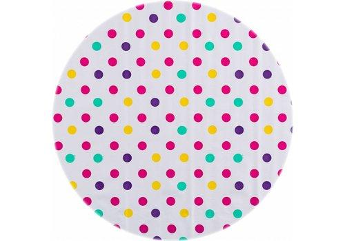 MixMamas Rond tafelzeil 120cm Confetti roze