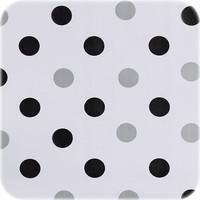 Mexicaans Tafelzeil Stippen Confetti - 120 x 200 cm - Zwart/Zilver