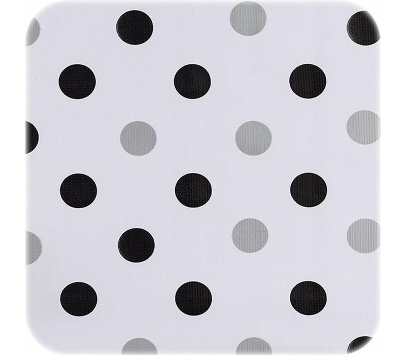 Tafelzeil Stippen Confetti - 120 x 200 cm - Zwart/Zilver
