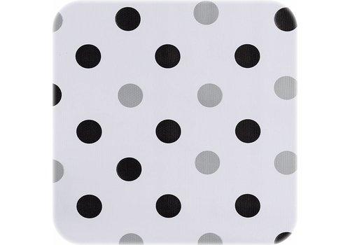 MixMamas Tafelzeil Confetti - 120 x 300 cm - Zwart/Zilver