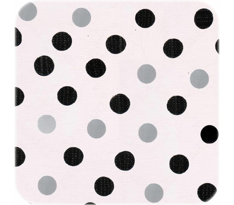 Tafelzeil Confetti - 120 x 300 cm - Zwart/Zilver