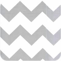 Mexicaans Tafelzeil Zigzag - 120 x 200 cm - Zilver/Wit