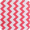 MixMamas Mexicaans Tafelzeil Zigzag - 120 x 300 cm - Koraalrood