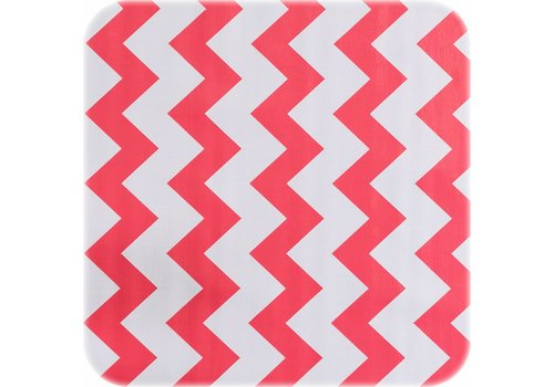 MixMamas Tafelzeil Zigzag - 120 x 300 cm - Koraalrood