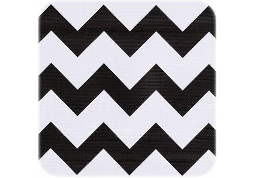 MixMamas Tafelzeil 2m Zigzag zwart