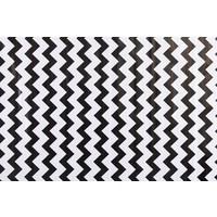 Mexicaans Tafelzeil Zigzag - 120 x 200 cm - Zwart