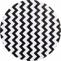 Rond tafelzeil 120cm zigzag zwart