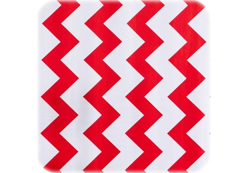 MixMamas Tafelzeil Zigzag - 120 x 200 cm - Rood