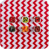 Mexicaans Tafelzeil Zigzag - 120 x 200 cm - Rood