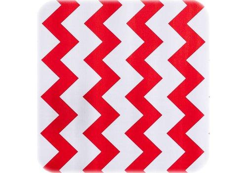 MixMamas Tafelzeil Zigzag - 120 x 300 cm - Rood