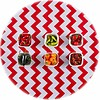 MixMamas Rond tafelzeil 120cm zigzag rood chevron