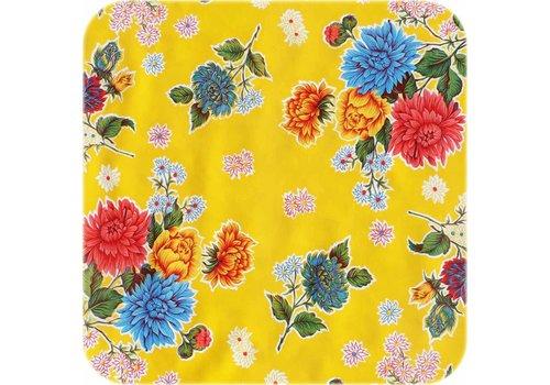 MixMamas Tafelzeil Chrysant - 120 x 200 cm - Geel