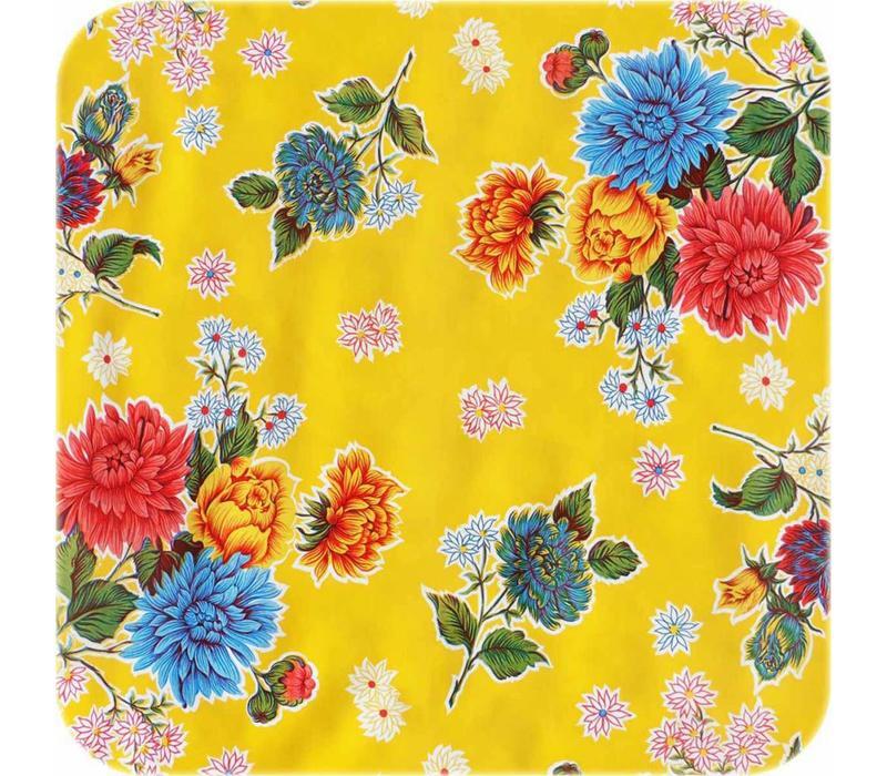 Mexicaans Tafelzeil 3m bij 1,20m Chrysant geel