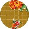 MixMamas Rond tafelzeil 120cm rosedal beige / mosterd