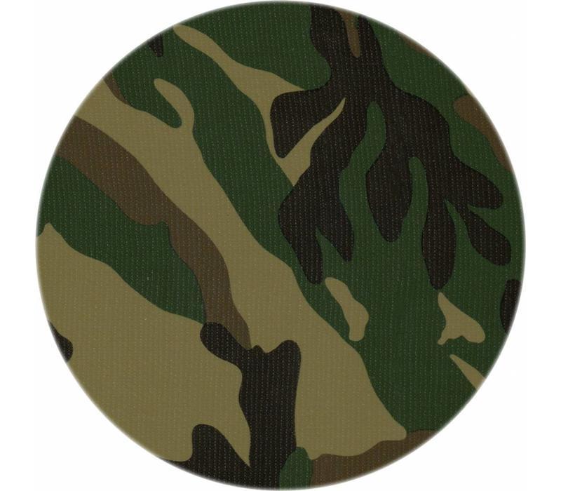 Rond tafelzeil 120cm camouflage bruin-groen