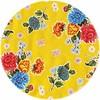 MixMamas Rond tafelzeil 120cm Chrysant geel