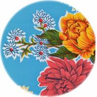 Tafelzeil Rond - Ø 120 cm - Chrysant - Lichtblauw